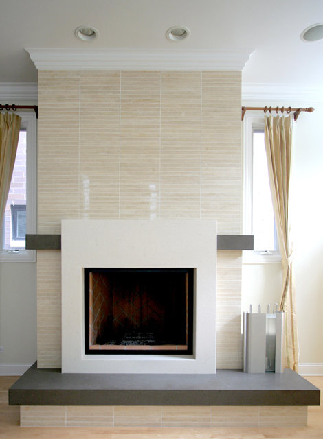 Contemporary fireplace - Fireplace living room modern ...