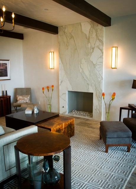 Contemporary Fireplaces Contemporary Living Room Santa Barbara By Pacific Stoneworks Inc