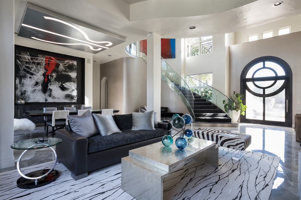 Contemporary Formal Living Room / Dining Room