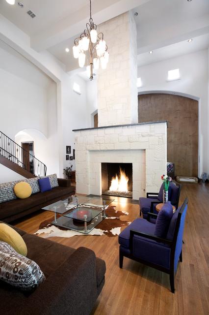 Contemporary Hill Country Family Room contemporary-living-room