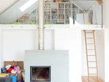contemporary living room Houzz Tour: Old School Charm With a Contemporary Twist (14 photos)