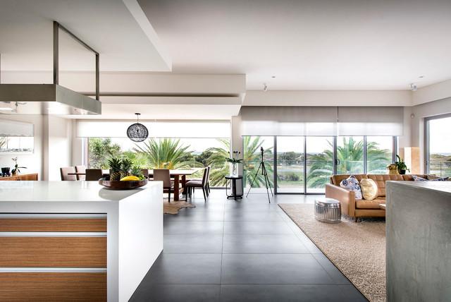 Contemporary Home City Beach Living Room