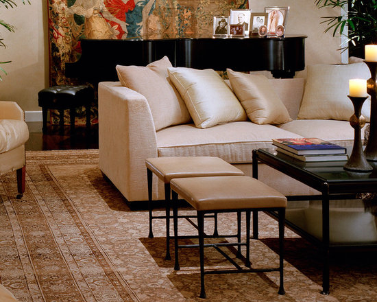 Living Room Sofa - Contemporary design with custom furnishings and classic fine art.