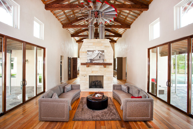 Contemporary Home With Timber Trusses Contemporary