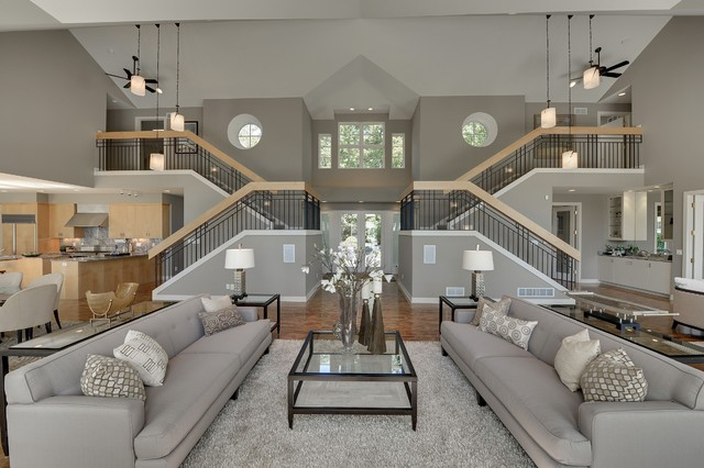 Contemporary in Deephaven - contemporary - living room