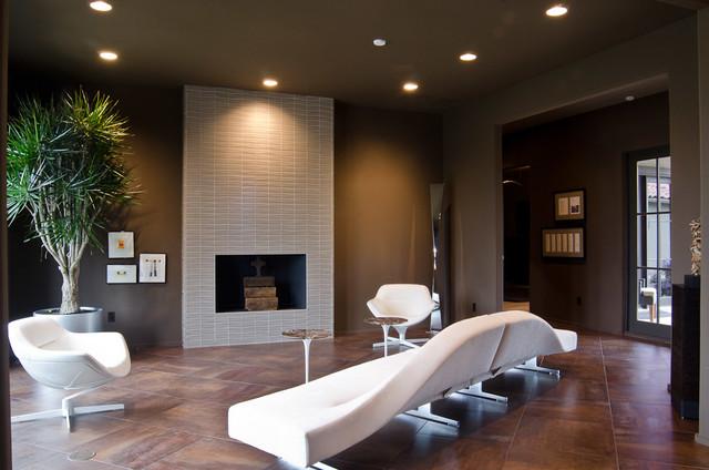 Superb Trendy Living Room Photo In Oklahoma City