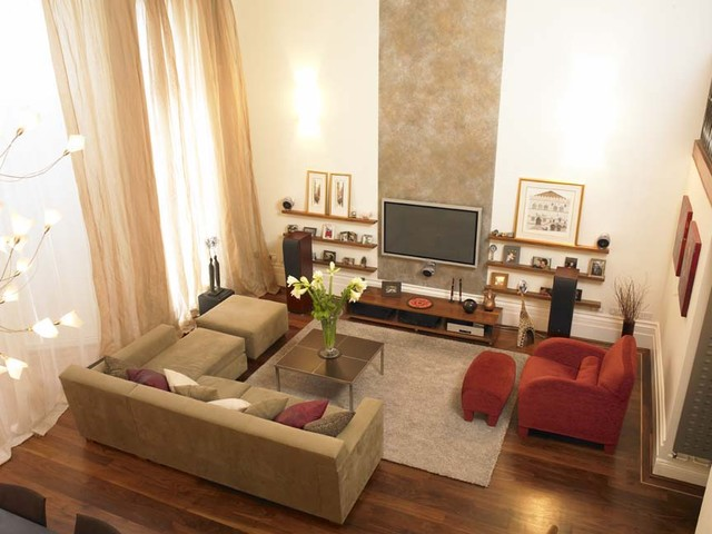 Trendy living room photo in London & Contemporary Living/Dining Room - Contemporary - Living Room ...