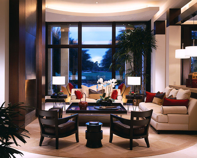 Private Golf Club Jupiter Florida Contemporary Living Room Miami By Alene Workman