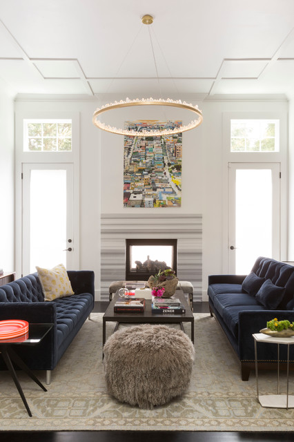 Tiburon Modern Living Room Contemporary Living Room