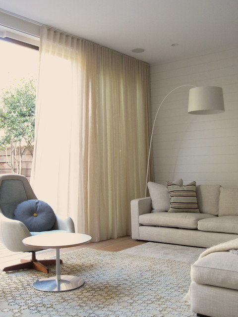 Ceiling Mounted Curtain Tracks Open Up Possibilities