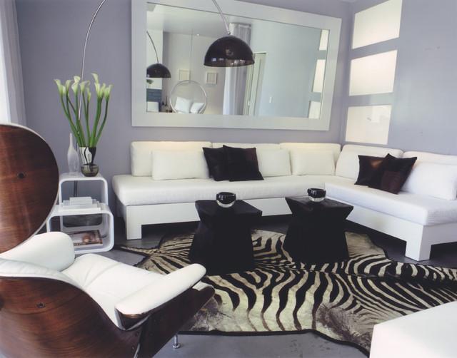 Malibu Beach House contemporary-living-room