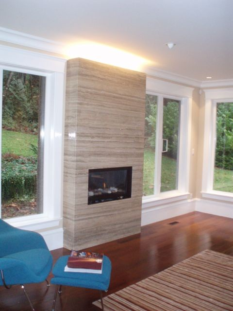 Vancouver Fireplaces by John Whipple contemporary living room
