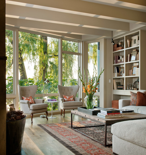 Merveilleux Contemporary Living Room   Traditional   Living Room   Seattle