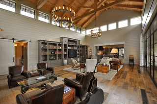 Las Lomas Residence Contemporary Living Room Austin