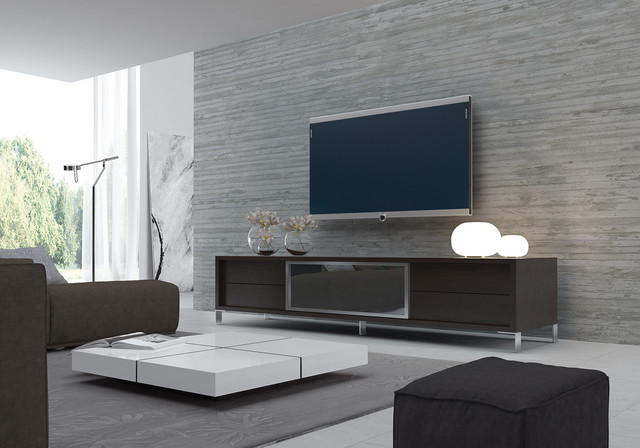 television tables living room furniture. Example of a trendy living room design in Orange County Modern Tv Stands  Houzz