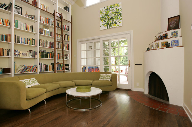 Brentwood Contemporary Library Remodel contemporary-living-room