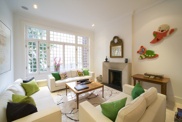 Upper Eastside Townhouse Contemporary Living Room