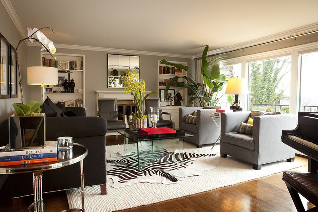 Contemporary Living Room - Contemporary - Living Room - Portland