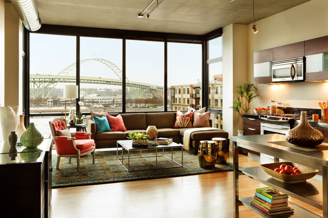 Urban apartment living room contemporary living room for Living room 6 portland