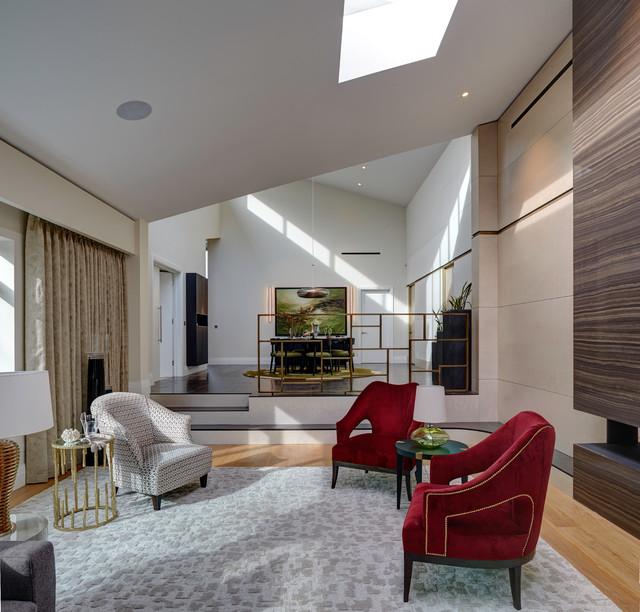Broken Plan Living The Design Trend Revolutionising Open Plan: Contemporary Living Room