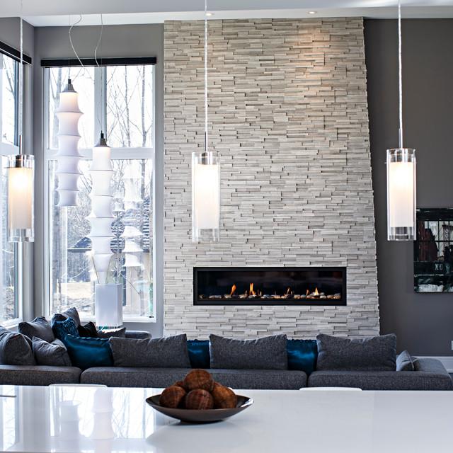 Modern Home Design Ideas Gray: Contemporary Living Room In Grey Tones