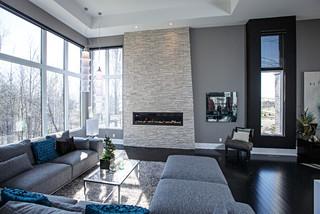 Modern Grey Living Room contemporary living room in grey tones - contemporary - living