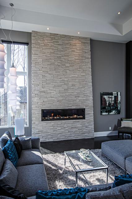 Contemporary Living Room In Grey Tones Contemporary