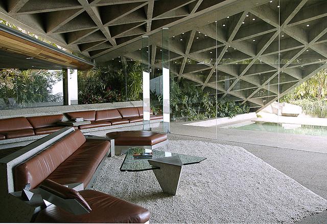 John Lautner Home Contemporary Living Room Los