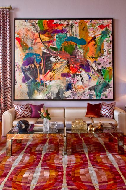 Tapestry brown zebra hide