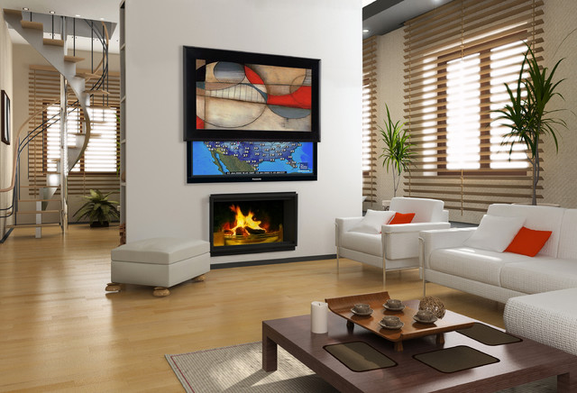 Media Décor Eclipse Vertical Art Lift - Contemporary - Living Room - miami - by Leon Speakers, Inc.