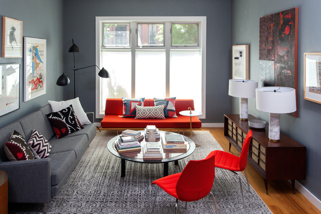 Brooklyn Townhouse Contemporary Living Room New York
