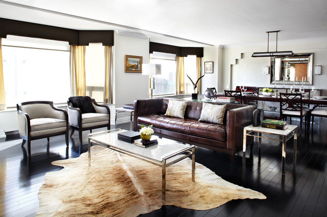 Small Apartments Big Style Contemporary Living Room