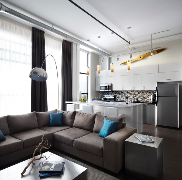 Small Apartments, Big Style contemporary-living-room
