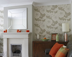 Orange Colour Accents contemporary-living-room