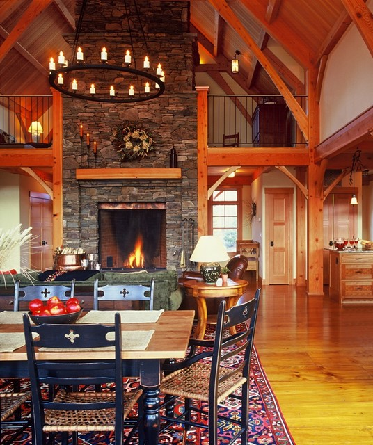 Timber Frame Living Room contemporary-living-room