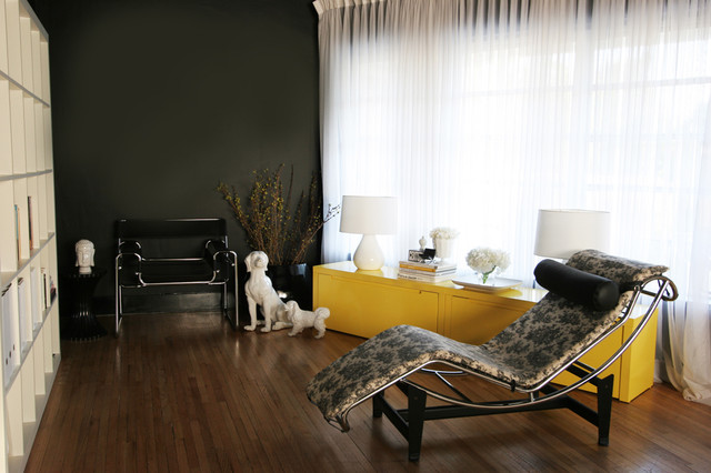modern living room black and yellow modern glamour living room