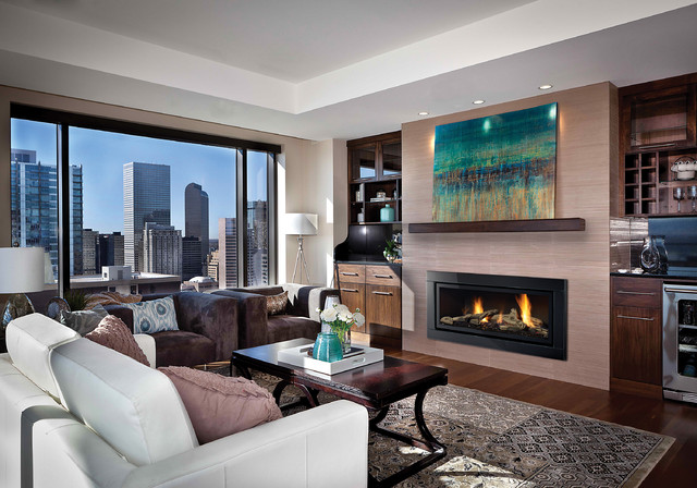 Browse 271 photos of Modern Gas Fireplace. Find ideas and inspiration for Modern Gas Fireplace to add to your own home.