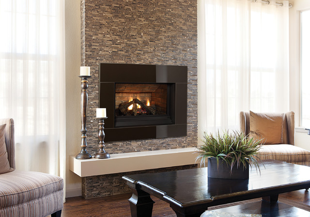 Traditional Fireplaces Contemporary Living Room
