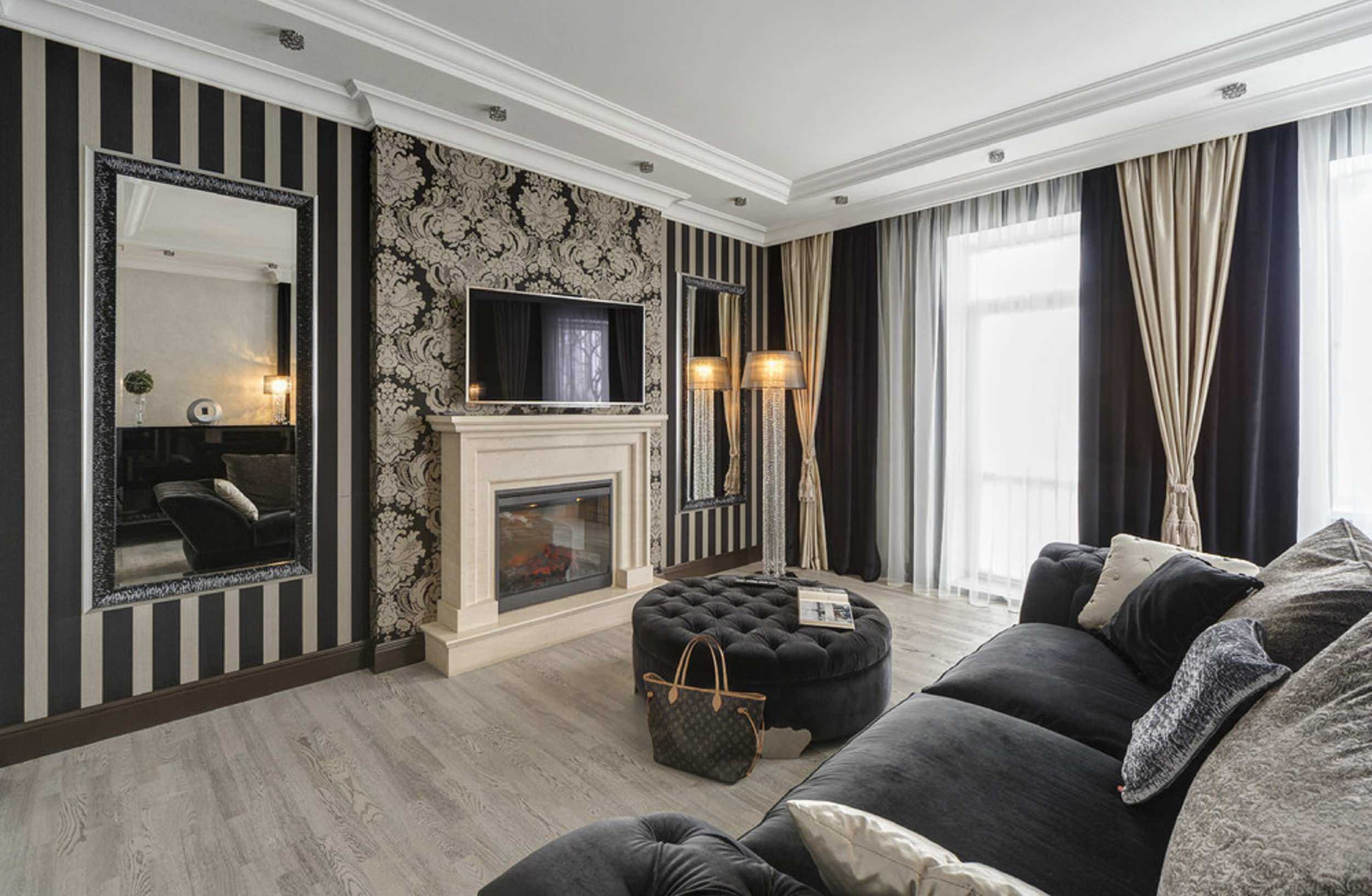 Black And Gold Living Room Ideas Photos Houzz