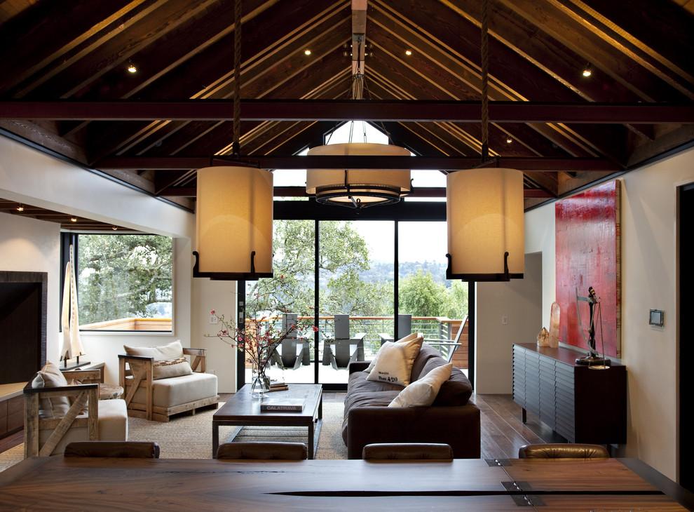 Trendy open concept living room photo in San Francisco