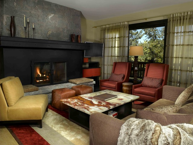Bachelor Gulch Residence contemporary-living-room