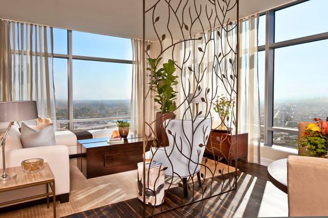 Ritz-Carlton Residences at LA Live contemporary-living-room