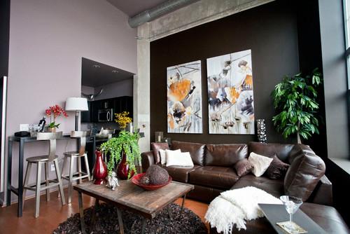 Help lavender walls interior design for Modern living room reddit