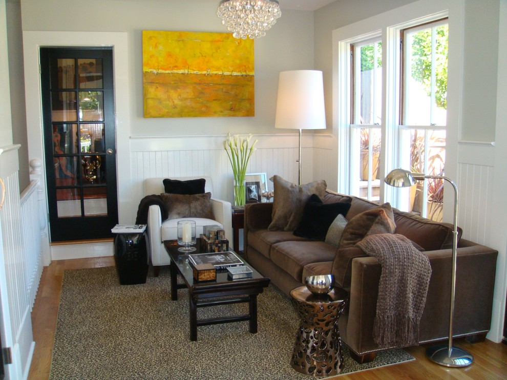 Small trendy living room photo in San Francisco