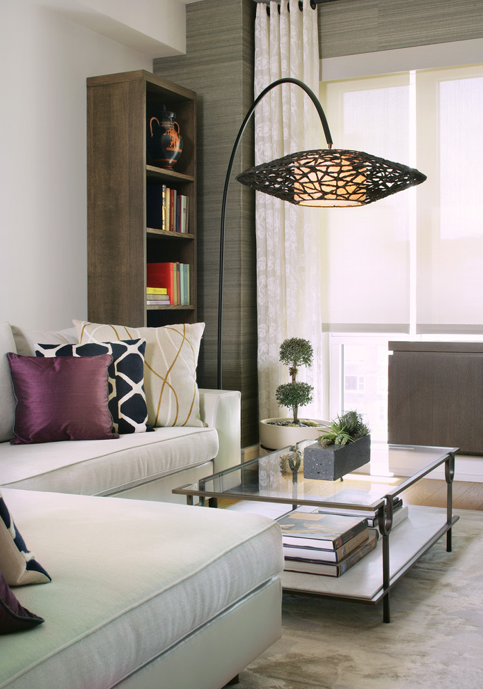 Inspiration for a mid-sized contemporary living room remodel in New York
