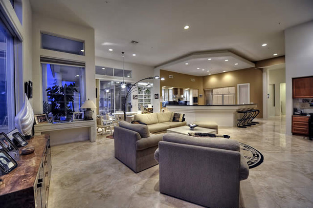 Contemporary Luxury Home - contemporary - family room - phoenix ...