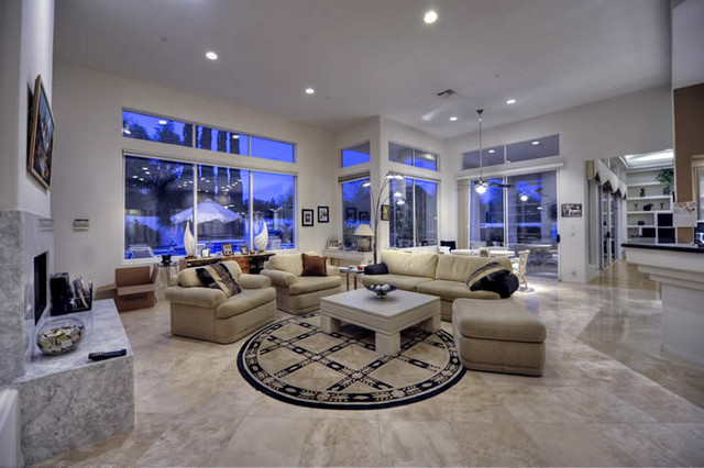 Contemporary Luxury Home Family Room