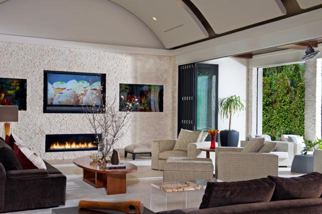 Contemporary Mediterranean mediterranean-living-room