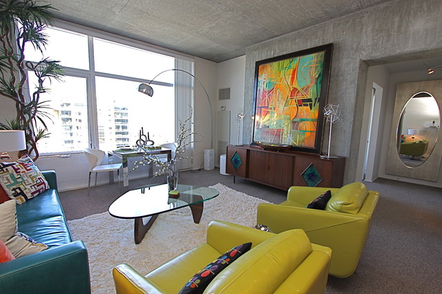 Contemporary mid century modern condominium vacation - Retro home design ...