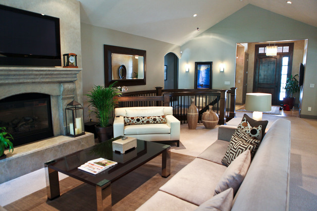 Contemporary mixed with traditional living space - Traditional contemporary living room ...